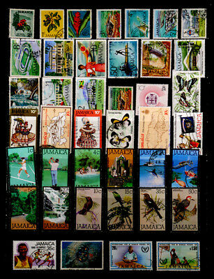 Jamaica: 1970'S Stamp Collection 40 Different