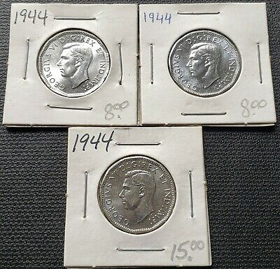 Lot of 3x 1944 Canada 5 Cent Nickels ***MS-65 Condition*** Great Detail