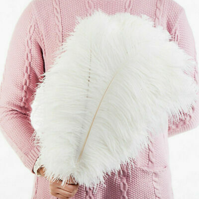 10-50Pack 15-35cm Large Ostrich Feathers Plume Craft Centerpiece Wedding Decors