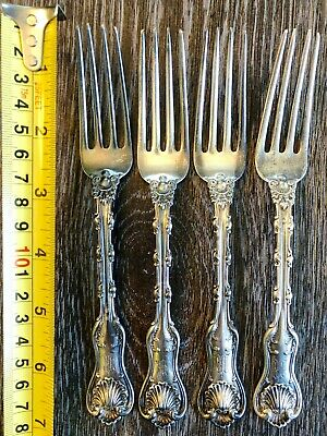 Lot of 4x 1893 Gorham Art Nouveau Sterling Silver Forks - 7 Inches, 157 Grams