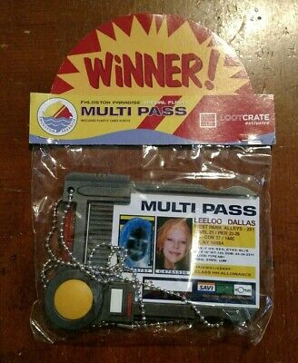 NEW Loot Crate Exclusive The Fifth Element Multi Pass Badge Holder Leeloo