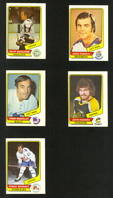 Lot of 20 1976-77 O-Pee-Chee WHA Vintage Hockey Cards - EX-MT to NM-MT