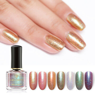 BORN PRETTY 6ml Chameleon Nail Polish Holographic Shining Nail Art Laser Varnish