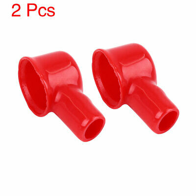 2pcs 41mm Long Red Soft PVC Battery Terminal Cover Insulation Cap Sleeve Boot