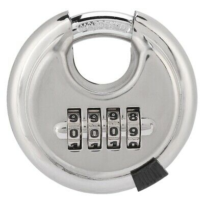 Stainless Steel Password Padlock Key 4 Digit Combination Lock Security Antitheft