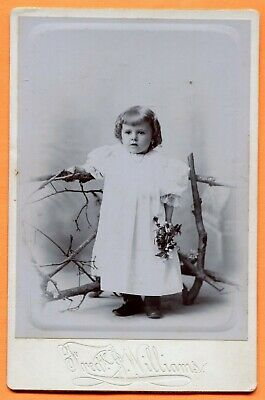 Natick, MA, Portrait of a Little Girl, by Williams, circa 1890s Backstamp