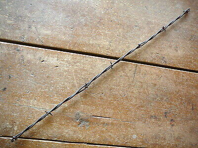 CURTIS NARROW TWO POINT FLAT & ROUND LINES - BARB on FLAT -  ANTIQUE BARBED WIRE