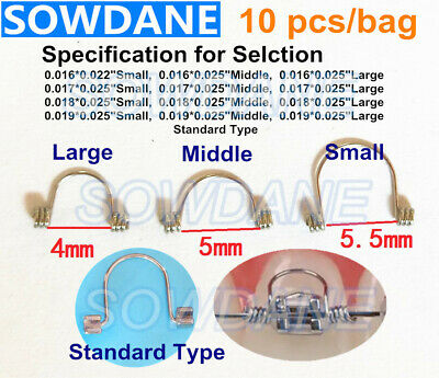10pcs/pack  Dental Orthodontic Single Anterior Teeth Tooth Torque Spring