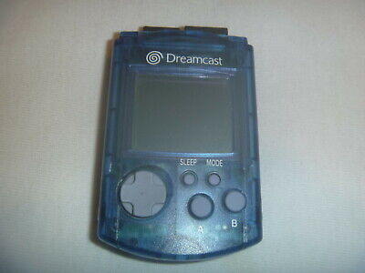 Official Genuine Sega Dreamcast Visual Memory Unit VMU Memory Card Blue HKT-7000