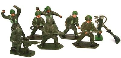 Lone Star 1950'S Plastic Toy Soldiers 8 Pieces - V.rare