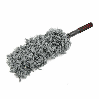 Gray Microfiber Cleaning Brush Duster Dust Wax Mop Telescoping Dusting Tool