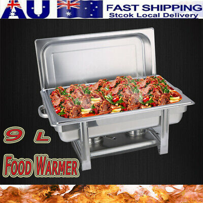 NEW 9L Trays Bain Marie Chafing Dish Stainless Steel Buffet Food Warmer AU