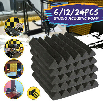 Wedge Acoustic Foam Tiles Studio Sound Proofing Treatment Absorption NEW
