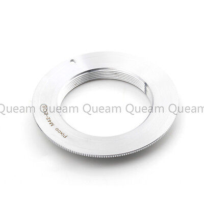 M42 Lens to Canon EOS Adapter Silver Brass without flange 800D 7D 6D II 80D 60D