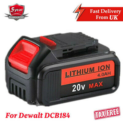 Replace Dewalt DCB182 DCB184 18V 4.0Ah XR Li-Ion Battery To Fit DCB181 DCD780