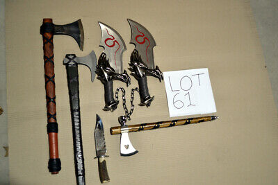 Bulk Lot of Viking Axes God of War Swords and Supernatural knife