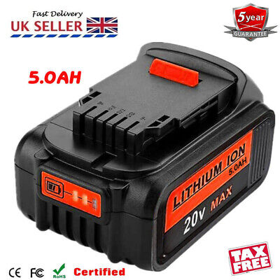 Replace Dewalt DCB182 DCB184 18V 5.0Ah XR Li-Ion Battery To Fit DCB181 DCD780 UK