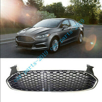 Black Front Grille Grill Bezel Honeycomb Mesh For Ford Fusion//Mondeo 2013-2016