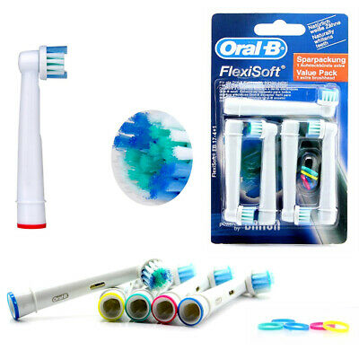 Braun Oral-B Replacement Electric ToothBrush Heads 4 Pack Flexisoft Brush EB17