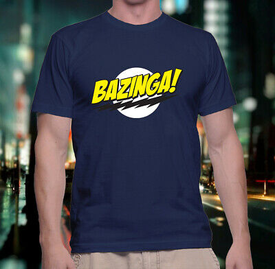 Bazinga Sheldon The Big Bang Theory Unisex Navy T-Shirt 💰Stock Clearance💰