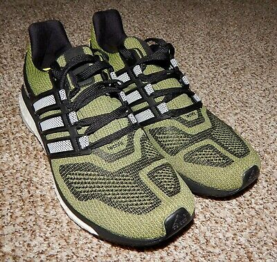 Adidas Energy Boost 3 Green/Black/White Men's Running Shoes NEW Size 11 AF4920