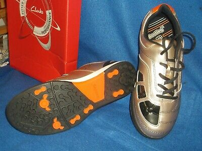 Boys Trainers...bootleg...swerve By Clarks...gold Orange Black...lace Up...nwob