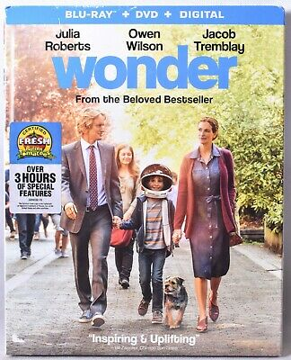 WONDER [Blu-ray + DVD + Digital (expiration unknown)] >NEW< See Notes