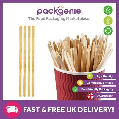 "1000 Wooden Coffee Tea Stirrers 190mm 7.5"" Coffee Cafe Hot Drinks Catering"