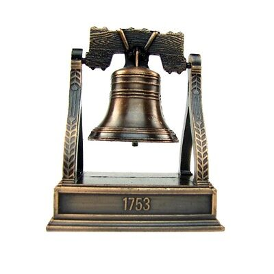 Bronze Metal Liberty Bell Miniature Replica Die Cast Novelty Pencil Sharpener