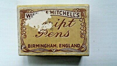 """WILLAIM MITCHELL,S BOXED  ASSORTED """" SCRIPT """" PEN NIBS ( 24No )"""