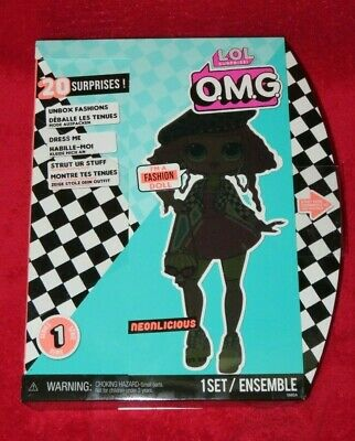 """NEW LOL Surprise! OMG 11"""" Fashion Doll NEONLICIOUS  L.O.L. Series 1 IN HAND"""