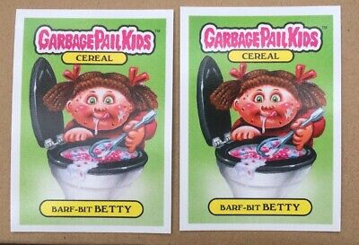 SDCC Topps Garbage Pail Kids Barf Bit Betty Promo Trading Card Collectible Pair