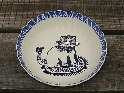 Collectable Emma Bridgewater Spongeware Large Fluted Bowl - Mary Fedden Lions