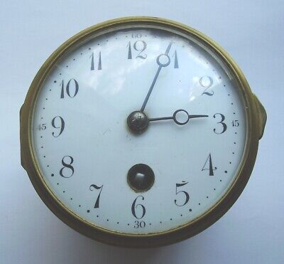 Antique French Fexacta Clock Movement Dial & Bezel 8 Day Striking