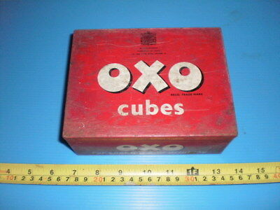 Old OXO Cubes Empty Tin plz see pic's