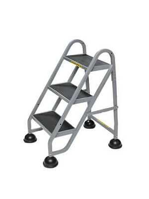 STOP-STEP 1030-19 3 Steps, Aluminum Step Stand, 300 lb. Load Capacity, Beige