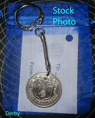 Derby County Football Club Coin Keyring Gift unusual  present ik Father's Day