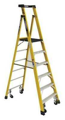 WERNER PD7306-4C 9 ft. Fiberglass 375 lb. Capacity Podium Stepladder IAA
