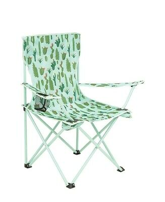 Mountain Warehouse Patterned Folding Chair - Cup Holder Camping Chair, Carry...