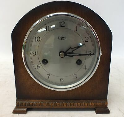 Small Wooden Vintage Arched SMITHS OF ENFIELD Mantel Clock With Chimes - D26