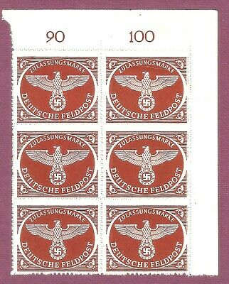 DR Nazi 3D Rare WW2 REAL! NAZI Feldpost Stamp Block ONLY FOR FRONT Swastka Eagle