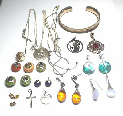 21 Pieces Bulk Collection of .925 STERLING SILVER JEWELLERY, 63.9g - C81