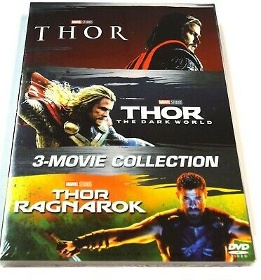 THOR 3- Movie Collection (DVD Box Set 2018) Complete Trilogy. Brand New!