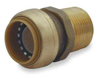 "SHARKBITE U140LF 1"" Push-to-Connect x MNPT DZR Brass Adapter"