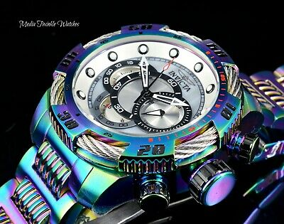 Invicta Men's 50MM Speedway VIPER Chronograph MOP Dial IRIDESCENT Bracelet Watch