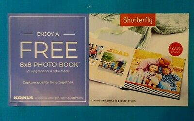 Shutterfly 8 x 8 Hard Cover Photo Book Code expires 8/31/19