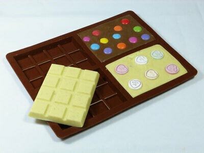 4 cell MEDIUM Chocolate Mould (70g) Professional Silicone Rectangular Bar wax