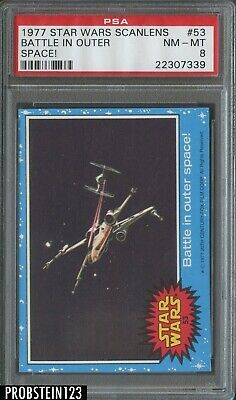 1977 Star Wars Scanlens #53 Battle In Outer Space! PSA 8 NM-MT