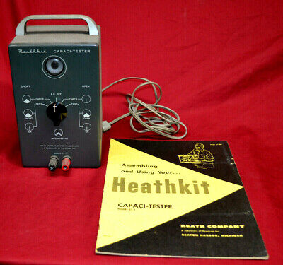 Vintage Heathkit Capaci-Tester Model CT-1 * FULLY TESTED & WORKING * w / MANUAL