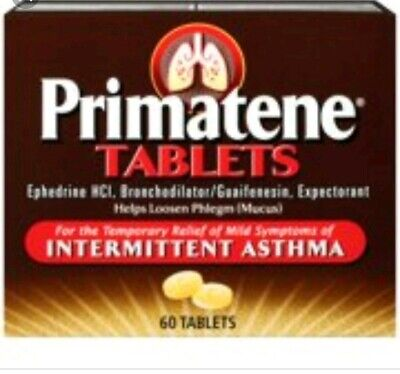 Primatene Asthma Tablets 60 CT Brand New Fresh Free Shipping